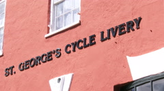 St. George cycle livery building in Saint George, Bermuda Stock Footage