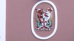 Seal of small town of Saint George, Bermuda Stock Footage