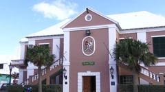 Town hall of Saint George, Bermuda Stock Footage