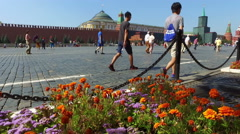 View of the Red Square and the Grand Kremlin Palace Stock Footage
