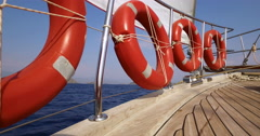 Yacht boat sailing Stock Footage