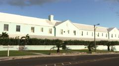 Traditional building in Hamilton, Bermuda Stock Footage