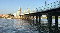 Citybridge over the IJssel in Kampen Stock Footage