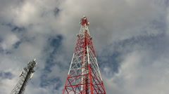 Cell phone antenna Stock Footage