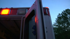 Ambulance for hospital medical emergency use Stock Footage