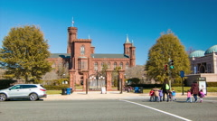 Smithsonian Castle Visitors Information Center in Washington DC Stock Footage
