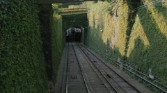 Bergamo funicular cablecar ascent, timelapse Stock Footage