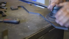 Metalworker in manufacture plant Stock Footage