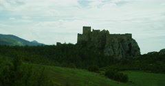 Medieval Castle in Europe along a countryside. Stock Footage