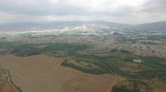 Lower Jordan - Agriculture fields in the Jordan Valley (Israel aerial footage) Stock Footage