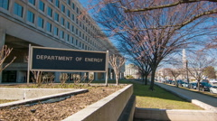 Department of Energy Building Exterior Washington DC Stock Footage