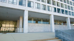 Federal Building for the FAA in Washington DC Stock Footage