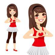 Teen Love Heart Sign Stock Illustration