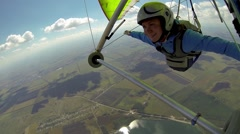 Free fly on a hang glider Arkistovideo