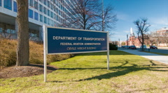 Department of Transportation FAA Building Washington DC Stock Footage