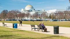 People Enjoying The National Mall in Washington DC Stock Footage