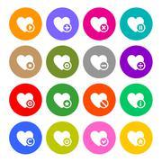 Icons set - hearts Stock Illustration