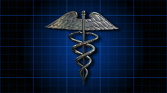 The Caduceus Medical Symbol - Caduceus 101 HD Stock Video Stock Footage
