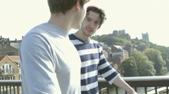 Friendly chat Stock Footage