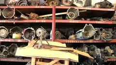 Automobile Transmission Parts and Service Stock Footage