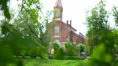 View of the Church of the Lutheran. Stock Footage