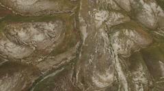 Lower Jordan - Sping streams between the hills  (Israel aerial footage) Stock Footage