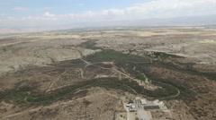 Lower Jordan - Qasr el Yahud and Betheny Beyond the river aerial footage) Stock Footage