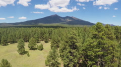Zoom To Humphreys Peak Over Coconino National Forest- Flagstaff AZ Stock Footage