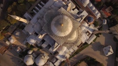 Aerial footage of Hagia Sophia in Istanbul city. Top-down view. 4K Stock Footage