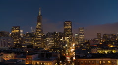 Timelapse Transamerica Pyramid Night San Francisco City Downtown Stock Footage