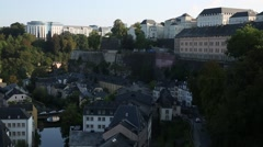 Luxembourg City from the heights Stock Footage
