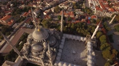 Aerial footage of Blue Mosque in Istanbul city. Turkey in 4K Stock Footage