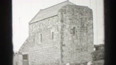 1952: old brick war fortress tourist visit and exploration EDINBOURGH, SCOTLAND Stock Footage