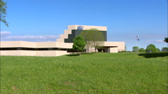 EAA Oshkosh Headquarters BuildingZoom Out Stock Footage