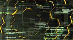 Software developer programming code, looping 4K background Stock Footage