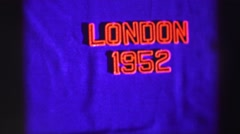 1952: london in 1952 EDINBOURGH, SCOTLAND Stock Footage