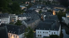 Roofs of Europe in the evening Stock Footage