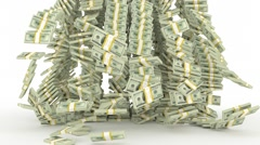 Pile of Money Stock Footage