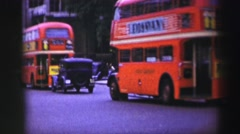 1952: people are seen standing beside a royal guard EDINBOURGH, SCOTLAND Stock Footage