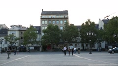 Luxembourg Centre plaza Stock Footage
