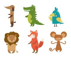Cute animals vector character Stock Illustration