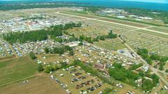 Airshow Aerial MWS Stock Footage