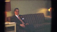1959: fancy all dressed up fellas who are getting ready for a big event today. Stock Footage