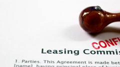 Leasing form Stock Footage