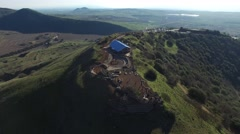 Mt Bental - Bunkers from the bird view (Israel aerial footage) Stock Footage