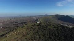 Mt Bental - Around the peak  (Israel aerial footage) Stock Footage