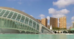 Hemispheric of Arts of City of Arts and Sciences Stock Footage