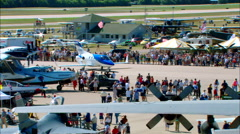 EAA Oshkosh Mass Crowd Honda Jet Taxi Stock Footage