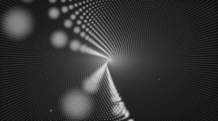 4k Black and White Seamless Looping Hypnosis Spiral Motion Background Stock Footage