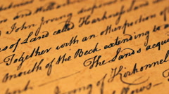 Old letter Stock Footage